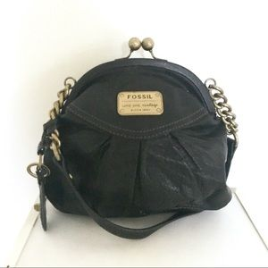 Fossil Black Ball Clasp Purse